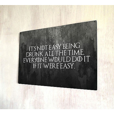 Game of Thrones Quote sign A4 metal plaque decor picture