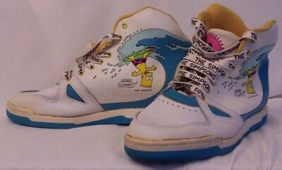 The Simpsons Bart Simpson ULTRA RARE Shoes New Old Stock  1991 Dunlop