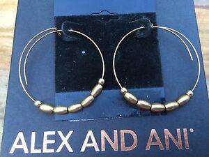 NEW-ALEX-and-ANI-Endless-Russian-GOLD-JORDAN-SMALL-Beaded-HOOP-EARRINGS