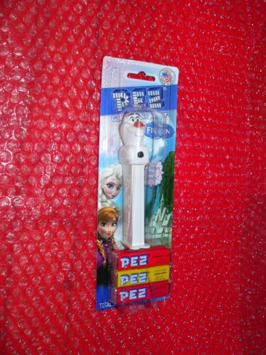 pez OLAF on Frozen card  2 Times the Candy