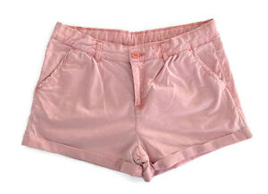 Target-Girls-Light-Pink-Chino-Shorts-Adjustable-Cotton-Size-16