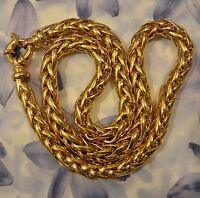 Dolly-bijoux Gros Collier Palmier 50 Cm - 8 Mm Plaqué Or 18k 5 Microns