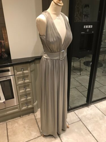 Dress Evening Frank Designer 10 Shimmer Dusk Size Style Usher By Silver qHHd5w