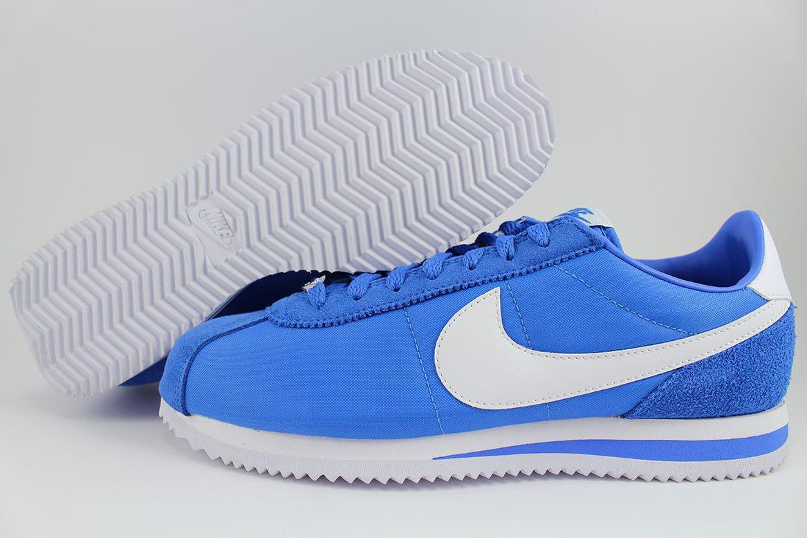 NIKE CORTEZ BASIC NYLON SIGNAL blueE WHITE ROYAL CLASSIC RUNNING US MENS SIZES