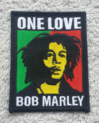 BOB MARLEY PATCH Cloth Badge//Emblem//Insignia Biker Jacket Bag Rasta One Love