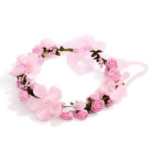 Blumenkranz Kranz Blumen Blumenmadchen Pink Rosa Hochzeit Vintage