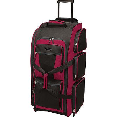 "Travelers Club Luggage 30"" Multi-Pocket Upright Duffel 5 Colors Rolling Duffel"