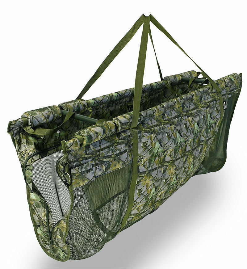 CARP FLOATING WEIGHING SLING DELUXE FISHING SLING WITH CASE CAMO CAPTUR NGT