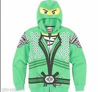 Ninjago Hoodie Jacket Hoodie Size 18-20 Xxl Lego Childs Green Ninja Lloyd