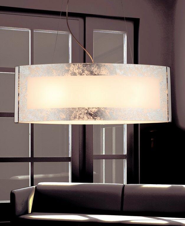alta qualità genuina Lampadario in vetro 3 3 3 luci foglia argento coll. GD 0007-3S  risparmia fino al 70%