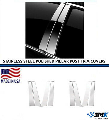 6pc Stainless Steel Pillar Post Covers for 2008-2014 Nissan Rogue