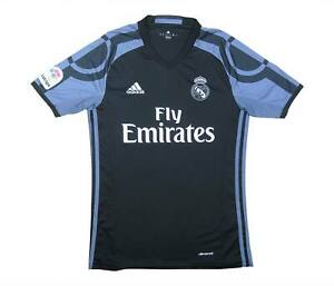 REAL MADRID 2016-17 Authentic Away Shirt (eccellente) S Soccer Jersey