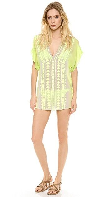 NWT MILLY CABANA  ANGUILLA  SILK OMBRE EMBROIDErot COVERUP TUNIC TOP S SMALL