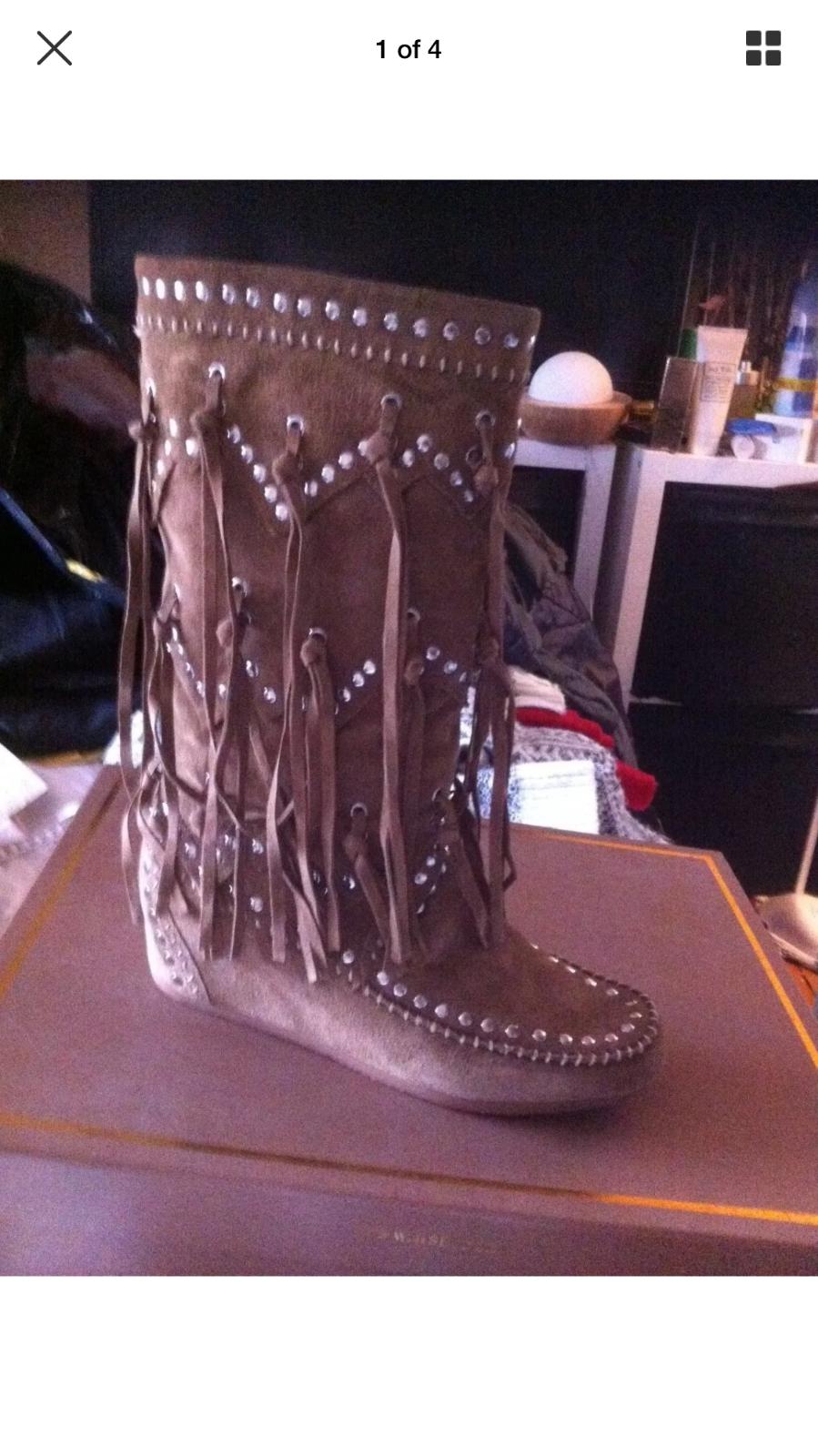 Nuevo Nuevo Nuevo Y En Caja   encantadora en ante Festival botas Diseñador Shilo Reino Unido 6  venta al por mayor barato