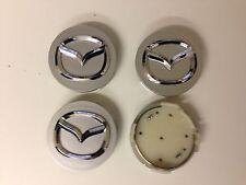 Set of 4 MAZDA  Face 56mm Clip 56mm ALLOY WHEELS CENTER CAPS SET  [ Silver ]