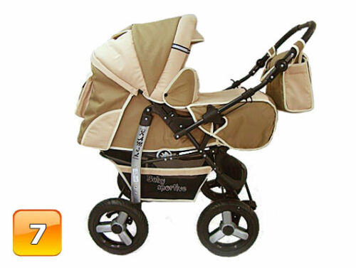 Neu 3in1 Kombi Kinderwagen Sportsitz Autositz Babyschale Buggy Pram Poussette
