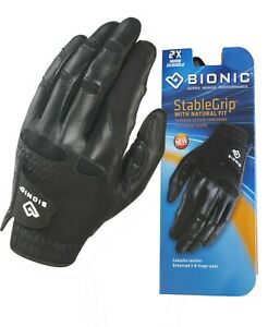Bionic-Golf-Glove-StableGrip-Mens-Left-Hand-Black-Leather-Small