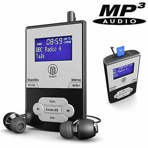 portable pocket personal dab digital fm radio rechargeable battery mp3 player ebay. Black Bedroom Furniture Sets. Home Design Ideas