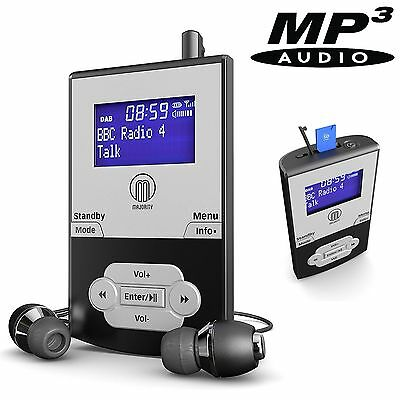 Portable Pocket Personal DAB+ Digital FM Radio Rechargeable Battery - MP3 Player