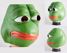 Pepe The Frog Latex Mask - 4chan kekistan hallowen Meme costume cosplay sad frog