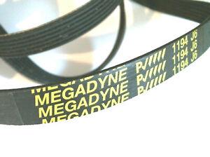 1194J6 Courroie MEGADYNE 1194 J6 pour lave linge