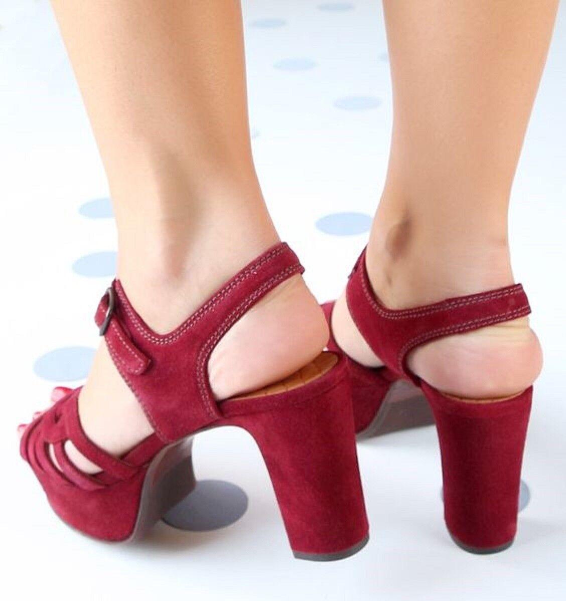 CHIE MIHARA Schuhe MARMA MARMA Schuhe PLATFORM HEELS BURGUNDY GRANATE SANDAL NEW NIB 40 480 3ad706