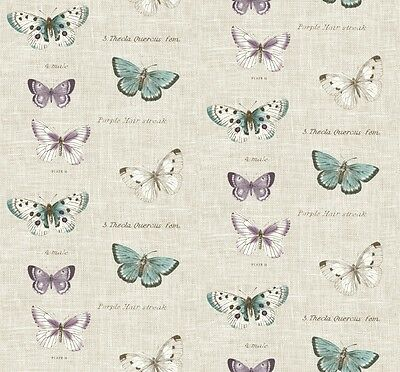 Fryetts Butterflies Linen Cotton Fabric Curtain Upholstery Craft Quilting Blinds