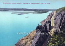 Old Photo. Russia. Lake Baikal - Waterfront, Railroad Tracks