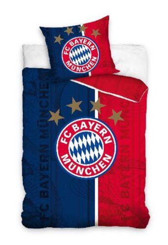 140x200 FC Bayern München Bettwäsche 135x200 160x200 Fußball 100/% Baumwolle