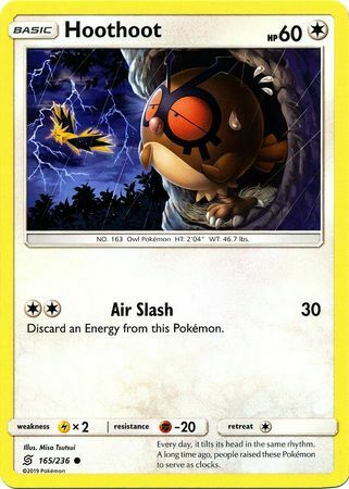 - NM Common Pokemon Card Unified Minds Set Hoothoot 165//236 2019