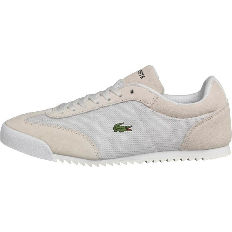 NEW Lacoste Mens Romeau Trainers Off Weiß 8 UK   42 EU