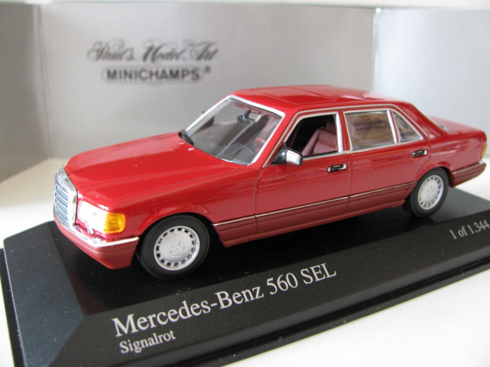 1 43 MINICHAMPS MERCEDES BENZ 560 SEL (1989) Rouge Diecast