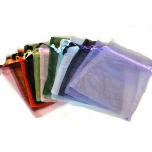 48pcs Light Blue Organza Drawstring Pouches Wedding Favor Candy Gift Bags 10* V3