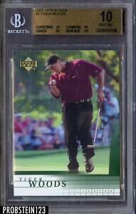 2001 Upper Deck UD #1 Tiger Woods RC Rookie BGS 10 PRISTINE