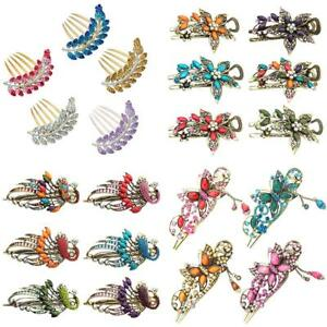 KQ-AB-EB-HB-Women-Retro-Crystal-Butterfly-Flower-Metal-Chinese-Hairpin-Hair