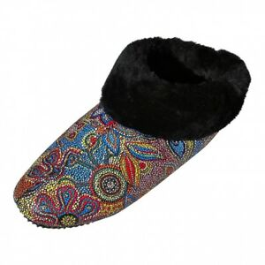 37b150a6c0b Hollert Ladies Lamb Wool House Shoes - Aladdin Real Merino Sheepskin ...