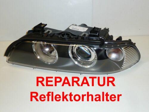 REPARATUR 2x BMW 5er e39 Hella Facelift Scheinwerfer Reflektorhalter Bj 00-04