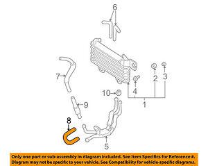 hyundai oem 01 06 santa fe transmission oil cooler return hose heater hose diagram image is loading hyundai oem 01 06 santa fe transmission oil