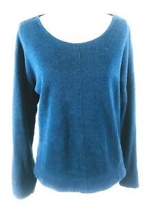 Orvis-Womens-Sweater-Size-Small-Crew-Neck-Sweater-Knit-Sweater-Blue
