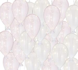 LED-Luftballon-2er-Set-rose-weiss-Glasluftballon-mit-12er-Lichterkette-Batterie