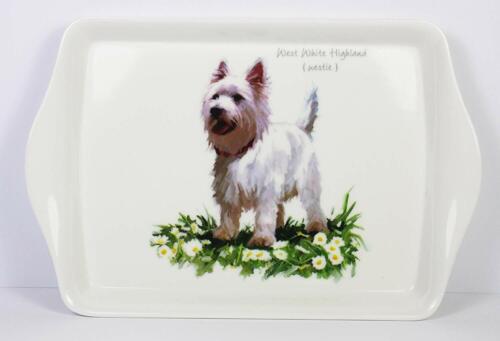 MacNeil Dogs 21cm melamine Snack Tray Labrador Westie Yorkie  LP91146