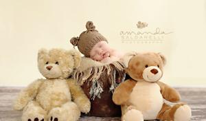 Image is loading Newborn-Teddy-Bear-Beanie-Baby-Girl-Boy-Crochet- fb9cd7b453a