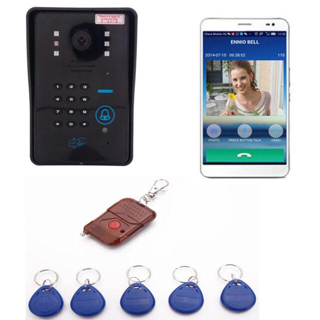 Wireless WiFi Remote Video Door Phone Bell Rainproof Code ID Doorbell US Ship