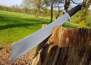 Uni Mega Machette Busch Couteau Bowie Hunting Couteau Machette Macete Cauteau Coltello-afficher Le Titre D'origine Soulager La Chaleur Et Le Soleil