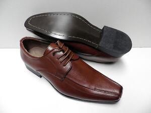 Chaussures-de-ville-marron-pour-HOMME-taille-40-costume-brown-shoes-man-ZY-998