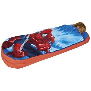 Details About Spiderman Ultimate Junior Ready Bed Kids Inflatable Sleeping Bag Official New