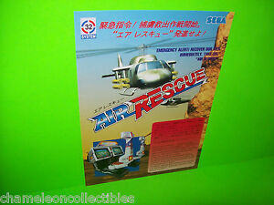 AIR-RESCUE-By-SEGA-1992-RARE-ORIGINAL-NOS-VIDEO-ARCADE-GAME-SALES-FLYER