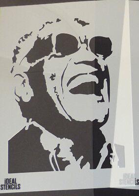 Ray Charles Portrait STENCIL Art Home Decor Stencils Paint Walls Fabrics etc