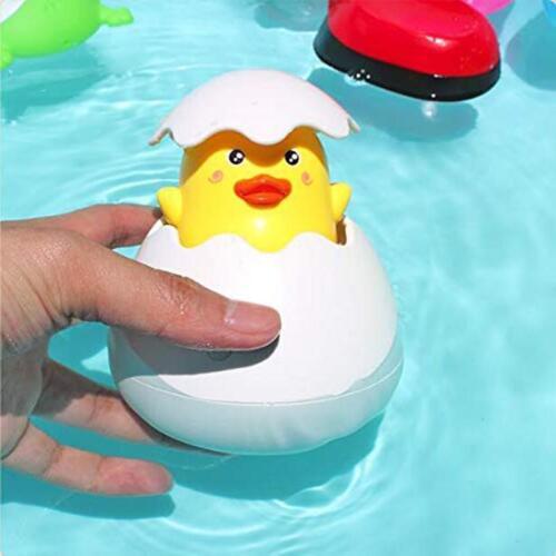 Bath Toy Duck Penguin Egg Water Spray Sprinkler Shower Gifts Baby Toys SU