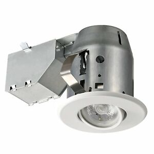 Details About 3 Dimmable Downlight Swivel Spotlight Recessed Lighting Kit Ic Rated With Led